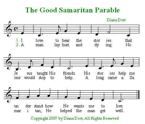the good samaritan for preschoolers the samaritan bible songs and more 348