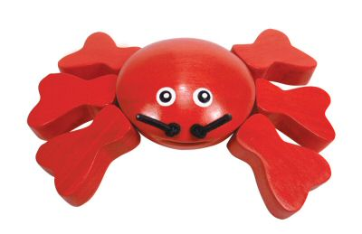 Bright Red Crab Grasping Toy