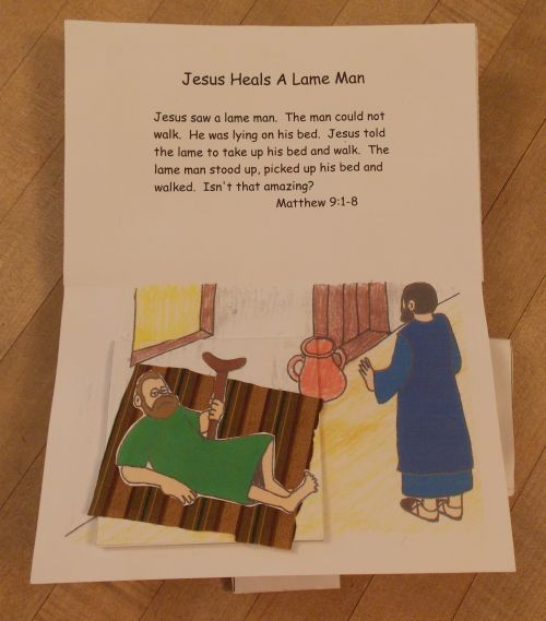 Jesus Heals A Lame Man Pdf You Will Need 2 Small Squares Of Fabric For This One I Found Some That Resembled Woven Blanket Might Would Have Been
