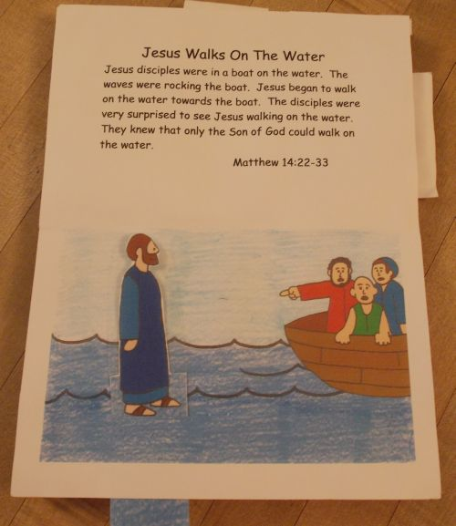The Child Can Help Jesus Walk On Water By Moving Tab Below Laminating Figure Will Making It Easier To