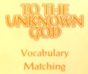 Unknown God Vocabulary Matching Activity